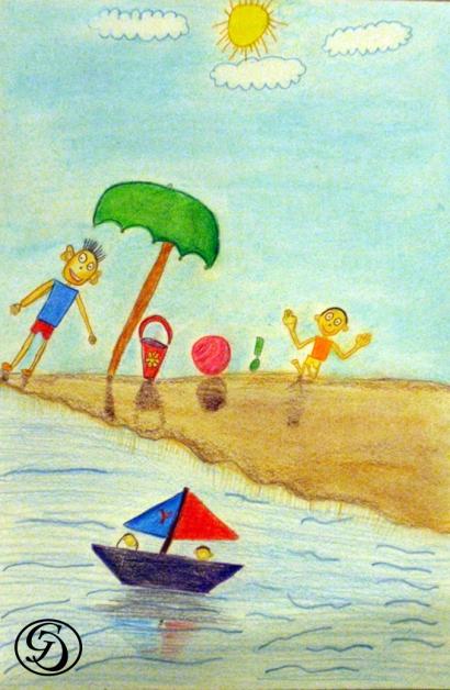Beach Scene by Aadit