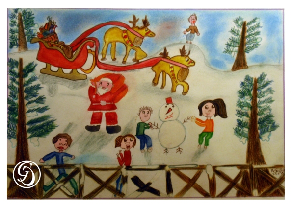 Christmas Scene by Meenal