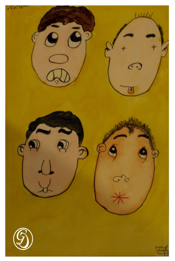 Cartoon faces by Meenal