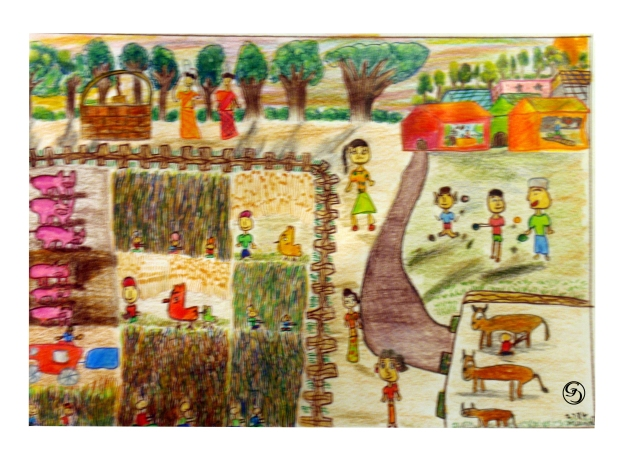 Village scene by Meenal