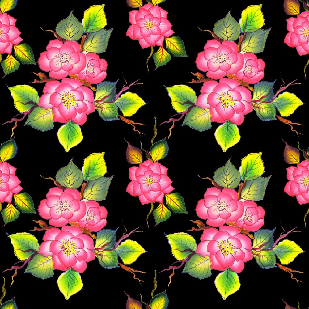 Rose One stroke - Pattern