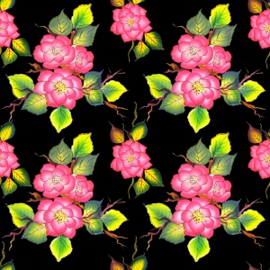 One Stroke Rose - Pattern