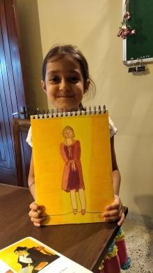 Lady in oil pastel - Sahej