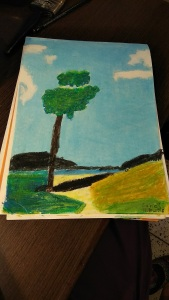 Landscape( oil Pastels)- Sahej