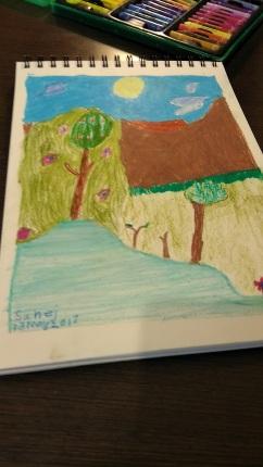 Oil Pastel Landscape ( self created - Sahej)