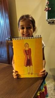 Sahej- Lady in oil pastels