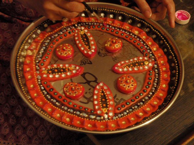 Thali decorations that I do on festivals .