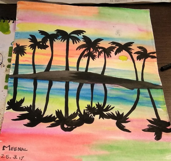 Sunset scene by Meenal
